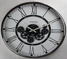 Mechanical Gear Skeleton Wall Clock Borough Wharf