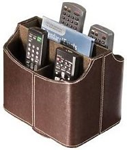 Media Storage Faux Leather Spinning Remote Control
