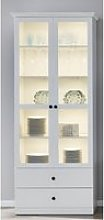Median Display Cabinet In White With 2 Doors And