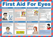 MEDICAL FIRST AID FOR EYES POSTER A602 - - Click