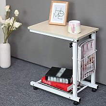 Medical Side Table, Overbed Table with Lockable