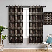 Medieval Decor Black out window curtain Medieval