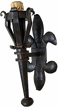 Medieval Torch 1 Light Wrought Iron Wall Lamp