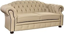 Mediouna Leather 3 Seater Chesterfield Sofa