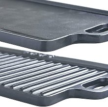 Medium 40cm Cast Iron Double Sided Griddle Plate