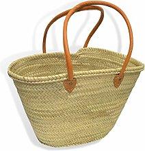 Medium Moroccan Market Shopping Basket - Orange