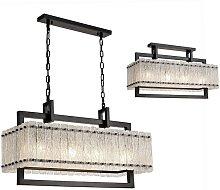 Medium Rectangular Ceiling Pendant, 8 Light E27,