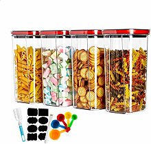 MeelioCafe Cereal Storage Containers Set, Airtight
