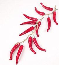 Meena Supplies 50cm Long Dozen 12x Hanging Chillis