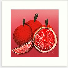 Meera Knowles - 'Orange' Framed Canvas