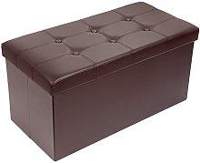 Meerveil 76cm Folding Ottoman Storage Boxes Saving