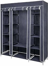 Meerveil Canvas Wardrobe Cupboard with 1 Hanging