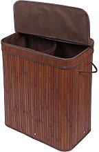 Meerveil Laundry Basket, Bamboo Foldable Laundry