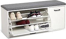 Meerveil Shoe Bench with Seat, Shoe Storage with 2