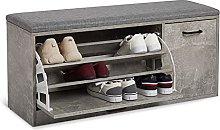 Meerveil Shoe Bench, Wooden Shoe Storage Cabinet