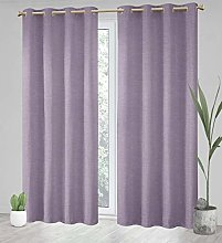 Megachest a pair white/beige jacquard curtain with