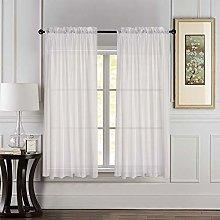 Megachest cotton look voile sheer slot top curtain