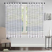 Megachest lucy Woven Voile Tab Top Curtain a pair