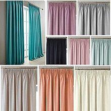 Megachest plain woven blackout curtain panel with