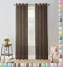 Megachest Woven Voile metallic ring top Curtain 2
