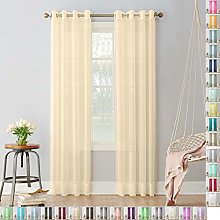Megachest Woven Voile metallic ring top Curtain 2