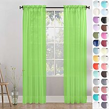 Megachest Woven voile sheer Slot Top Curtain 2