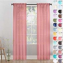 Megachest Woven Voile Slot Top Curtain 2 Panels