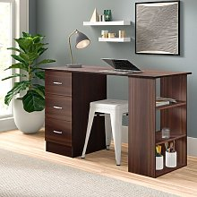 Meggie Desk Zipcode Design Colour: Brown