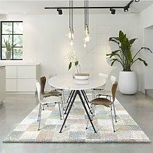 Mehari Pastel Squares 80x150cm Large Rug Carpet