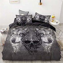 Meiju Bedding Duvet Cover Set, 3D Animal Print