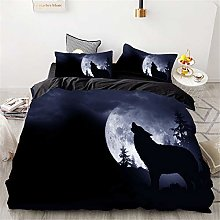Meiju Bedding Duvet Cover Set, 3D Animal Print