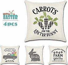 Meiju Easter Sofa Cushion Covers 18 * 18 4 Pack