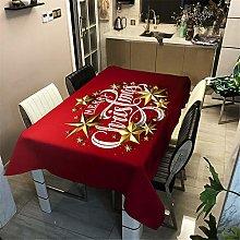 Meiju Merry Christmas Tablecloths Rectangular Wipe
