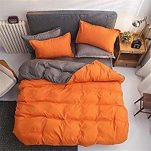 Meiju Modern Solid Color Duvet Cover Set Bedding 4