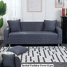 Meiju Sofa Slipcovers Stretch Fabric, Retro Plain