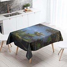 Meiju Table Cloths Rectangular Waterproof, Summer