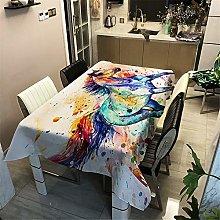 Meiju Tablecloths Rectangular Wipe Clean, Home
