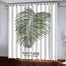 meilishop 3D Printing Blackout Curtains Green
