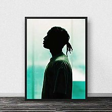meilishop Asap Rocky Print Poster Rapper Poster
