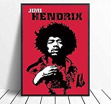 meilishop Jimi Hendrix Poster Print Famous Singer