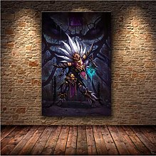 meilishop Print On Canvas Frameless Painting Game
