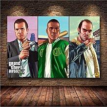 meilishop Print On Canvas Grand Theft Auto V Game