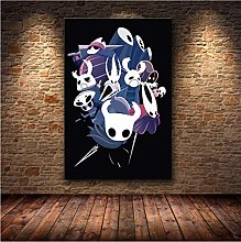 meilishop Print On Canvas Hollow Knight Map The