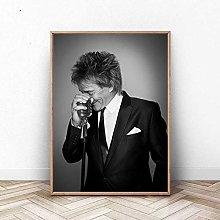 meilishop Print On Canvas Rod Stewart Poster Rock