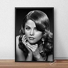 meilishop Selena Gomez Poster Music Singer Black