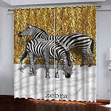 meilishop Solid Thermal Curtains Gold Zebra 3D