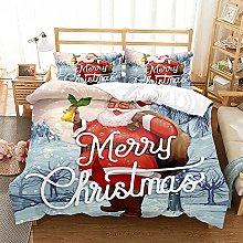 Meimall Duvet Cover Sets King - Cartoon Christmas