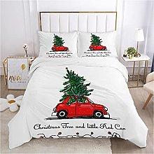 Meimall King Size Duvet Cover Set Christmas Car