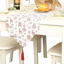 meioro Christmas Table Runner Printed Table Lines