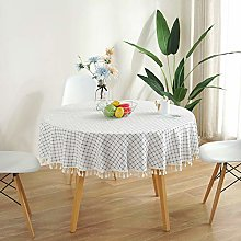 meioro Round Tablecloths Cotton and Linen Table